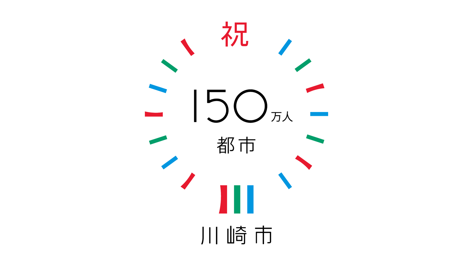 川崎市150万人都市記念ロゴ