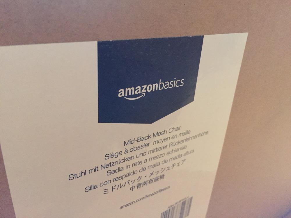 Amazon Basic ワーキングチェアのパッケージ