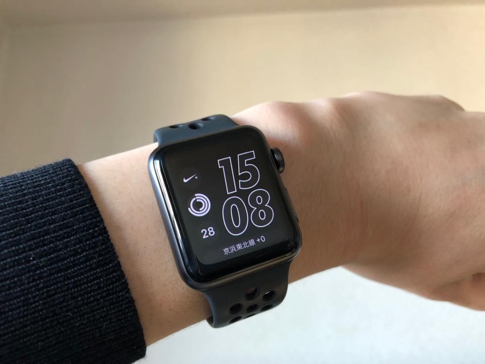 Apple Watch Nike+を身につけた様子