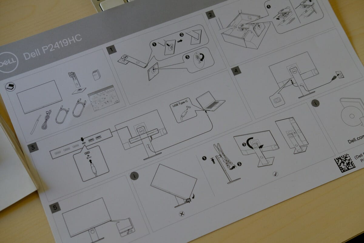 Dell「P2419HC」の説明書