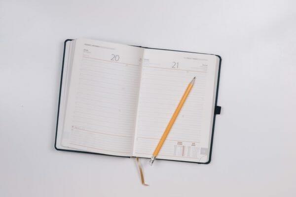 空白の手帳