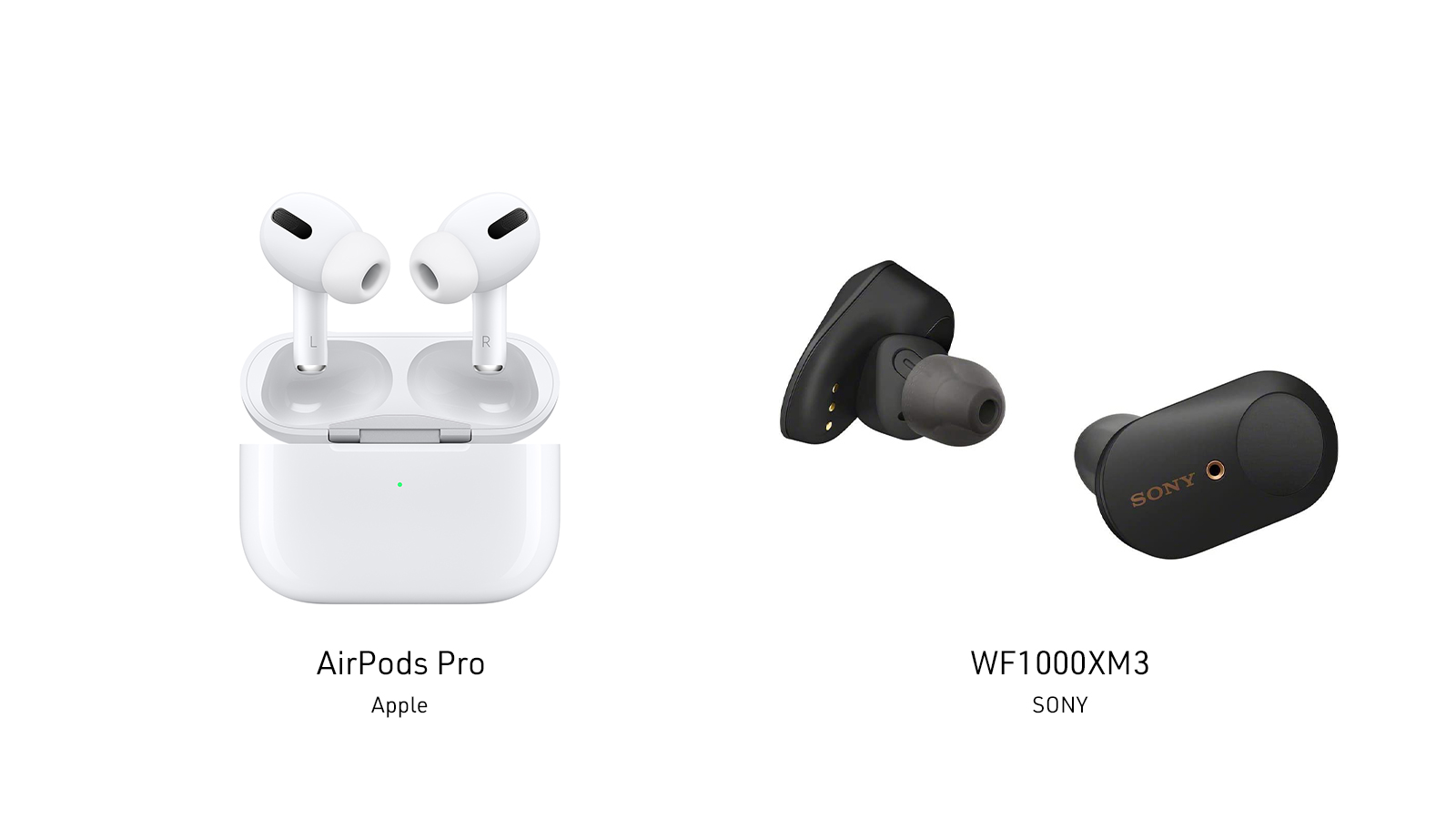 Apple AirPods ProとSONY WF-1000XM3